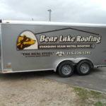 lettering on roofer trailer