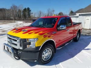 flame job on Ford truck
