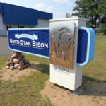 rust patina sandblasted sign