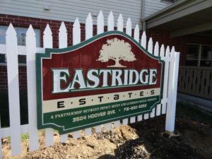 retired housing sign